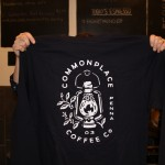 sweatshirt that says commonplace coffee with a lantern