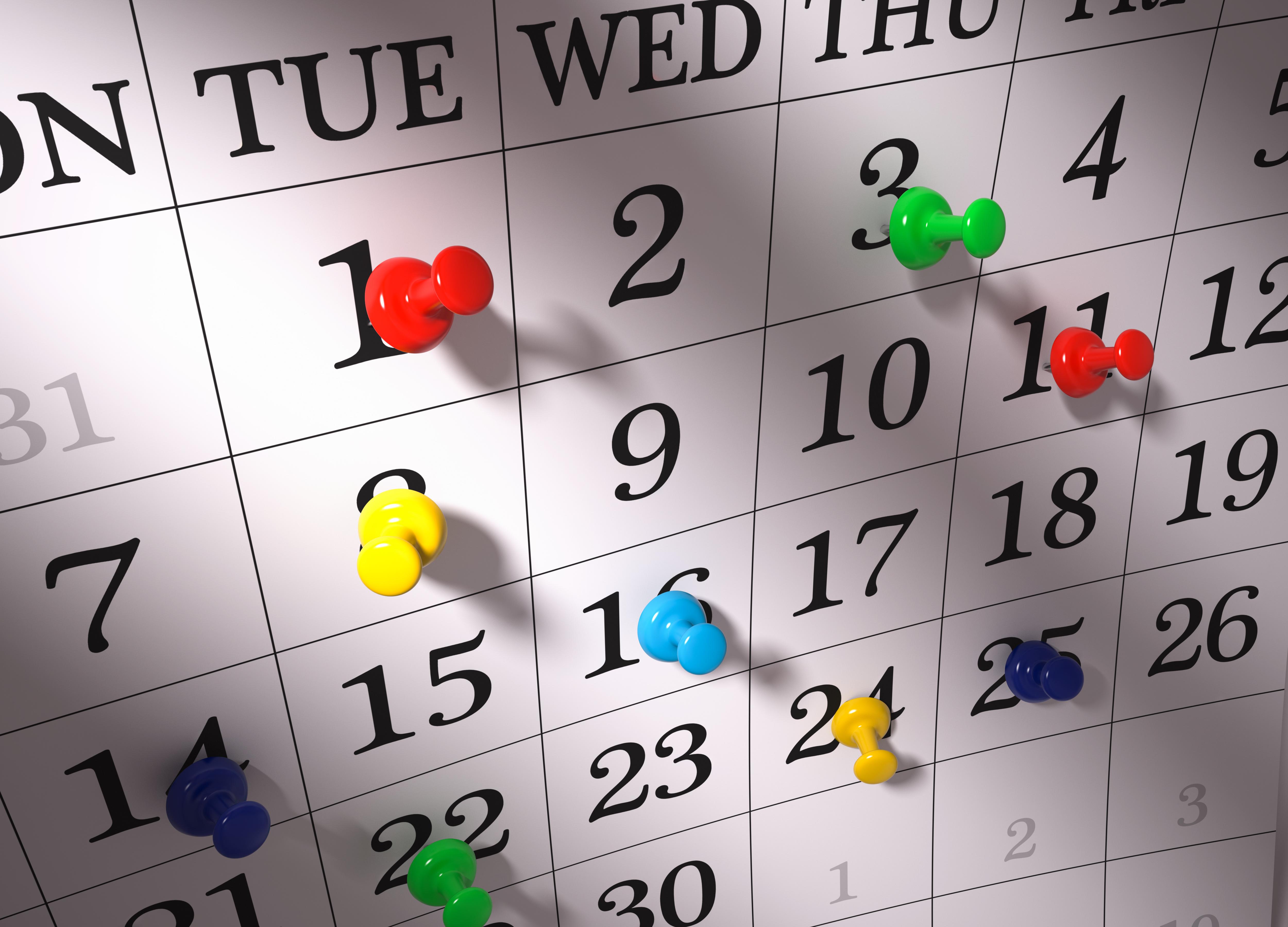 Картинки с датами календаря, днем